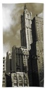 Old New York Photo - Historic Woolworth Building Beach Towel