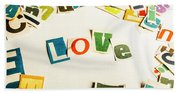 Word Of Love Beach Towel