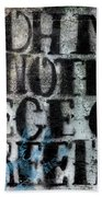Words Beach Towel by Hans Franchesco