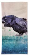 Words Of A Raven Beach Towel