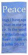 Words Of Peace Beach Towel