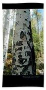 Words Written In The Trees 1 Beach Towel