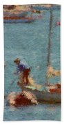 Work These Sails Honey Boothbay Harbor Maine Beach Towel