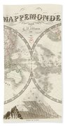 World Map - 1842 Beach Towel