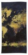 World Map Art 65 Beach Towel