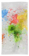 World Map Painting Beach Towel