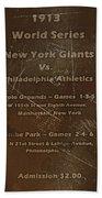 World Series 1913 Beach Sheet