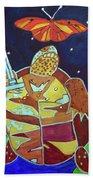 World Turtle King Of Swords Beach Towel