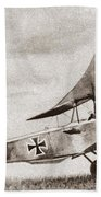 World War I: German Biplane Beach Towel