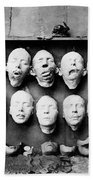 World War I Masks, 1918 - To License For Professional Use Visit Granger.com Beach Towel
