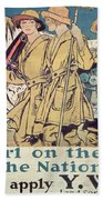 World War I Ywca Poster  Beach Towel