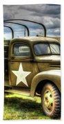 World War II Army Truck Beach Towel