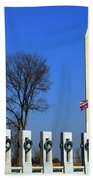 World War II Memorial And Washington Monument Beach Towel