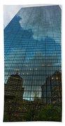 World's Largest Canvas John Hancock Tower Boston Ma Beach Towel