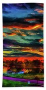 World's Most Psychedelic Autumn Sunsset Beach Towel