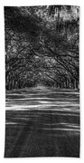 Wormsloe Plantation 2 Live Oak Avenue Art Beach Towel