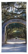 Wormsloe Gates Beach Towel