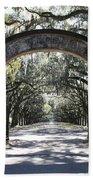 Wormsloe Plantation Gate Beach Towel by Carol Groenen