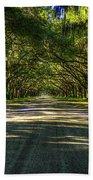 Shadows Of Wormsloe Plantation Oak Avenue Georgia Art Beach Towel