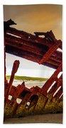 Worn Rusting Shipwreck Beach Sheet