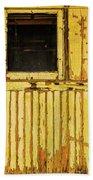 Worn Yellow Passanger Car Beach Towel