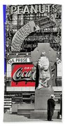 Wrapped  Fr. Duffy Statue Times Square New York Peter Sekaer Photo 1937 Color Added 2014 Beach Towel
