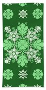 Wrapping Wallpaper Floral Seamless Tile For Website Vector, Repeating Foliage Outline Floral Western Beach Towel
