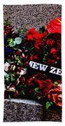 Wreaths From New Zealand And Our Navy Beach Towel