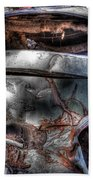 Wrecking Yard Study 2 Beach Towel