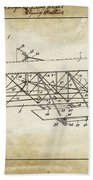 Wright Brothers Flying Machine Patent 1903 Beach Towel