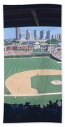 Wrigley Field, Chicago, Cubs V Beach Towel