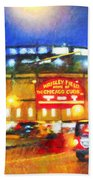 Wrigley Field Home Of Chicago Cubs Beach Towel