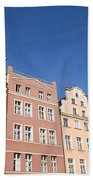 Wroclaw Old Town Houses Beach Towel