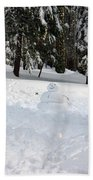 Wrong Way Snowman Beach Towel