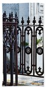 Wrought Iron Cemetery Fence Beach Towel