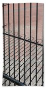 Wrought-iron Gate And Shadows Beach Towel