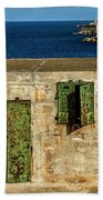 Ww2 Fortification Door Beach Towel