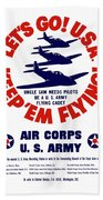 Us Army Air Corps - Ww2 Beach Towel by War Is Hell Store