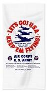Us Army Air Corps - Ww2 Beach Towel