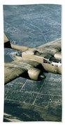 Wwii, Northrop P-61 Black Widow, 1940s Beach Towel