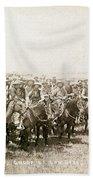 Wyoming: Cowboys, C1883 Beach Towel
