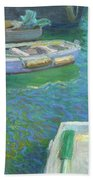 Xabia Harbour With Fishing Boats Beach Towel