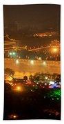 Xian City Lights Beach Towel