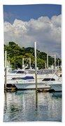 Yacht Lot Beach Towel