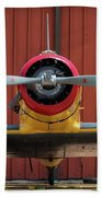 Yale And Hangar - 2018 Christopher Buff, Www.aviationbuff.com Beach Towel