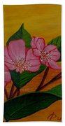 Yamazakura Or Cherry Blossom Beach Towel