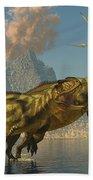 Yangchuanosaurus Dinosaurs Beach Towel