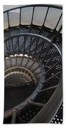 Yaquina Lighthouse Stairway Nautilus - Oregon State Coast Beach Towel