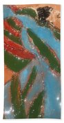 Yawn And Stretch - Tile Beach Towel