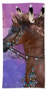 Year Of The Eagle Horse Beach Towel